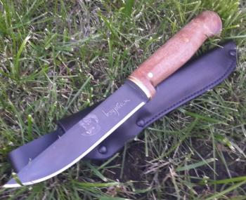 """Нож праздничный """"Курбан байрам"""", рукоять дерево, покрытие черный хром"""