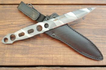 """Нож туристический """"Кобра"""", рукоять металл, покрытие камуфляж"""
