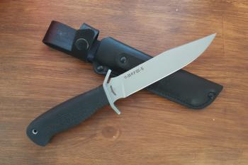 """Нож туристический """"Смерш-5, рукоять термоэластопласт (резина), покрытие антиблик"""