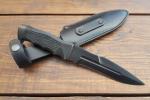 Нож  Антитеррор-Р, рукоять резина, покрытие черный хром