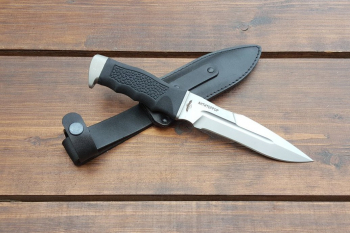 """Нож туристический """"Антитеррор-Р"""", рукоять термоэластопласт (резина), покрытие антиблик"""