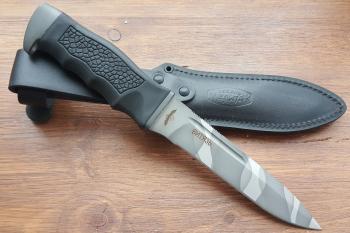 """Нож туристический """"Витязь"""" 150 мм, рукоять термоэластопласт (резина), покрытие камуфляж"""