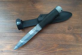 Нож  Кобра, рукоять резина, покрытие камуфляж