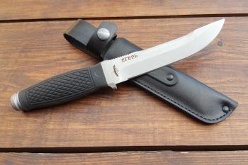"Нож туристический ""Егерь"", рукоять термоэластопласт (резина), покрытие антиблик"