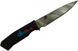 """Нож туристический """"Гриф"""", рукоять (line) термоэластопласт (резина), покрытие камуфляж"""
