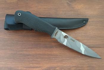 """Нож туристический """"Гриф"""", рукоять термоэластопласт (резина), покрытие камуфляж"""