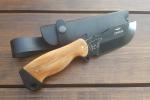 Нож  Гризли, рукоять дерево, покрытие черный хром