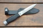 Нож  Гюрза, рукоять резина, покрытие антиблик