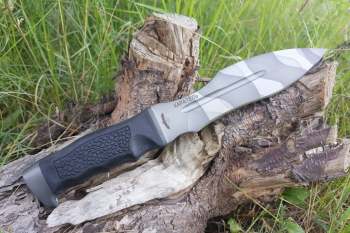 """Нож туристический """"Каратель-Р"""", рукоять термоэластопласт (резина), покрытие камуфляж"""