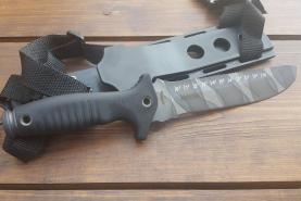 Нож  Касатка, рукоять резина, покрытие камуфляж