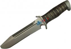 """Нож туристический """"Катран-3"""", рукоять кожа/латунь, покрытие антиблик"""