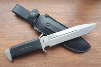 """Нож туристический """"Катран-2"""", рукоять термоэластопласт (резина), покрытие антиблик"""