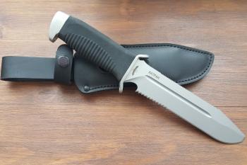 """Нож туристический """"Катран-3"""", рукоять термоэластопласт (резина), покрытие антиблик"""