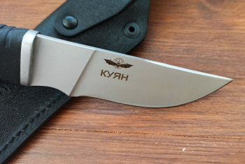 "Нож туристический ""Куян"", рукоять термоэластопласт (резина), покрытие антиблик, с упрочнением режущей кромки"