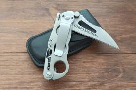 Нож складной Птеродактиль, рукоять металл, покрытие антиблик