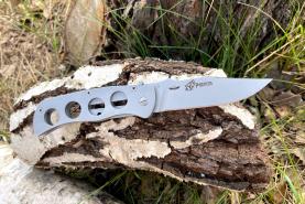 Нож складной Ракша, рукоять металл, покрытие антиблик