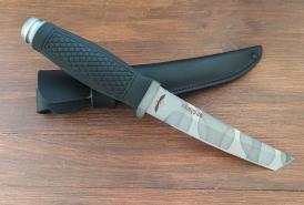 Нож  Самурай, 150 мм, рукоять резина, покрытие камуфляж