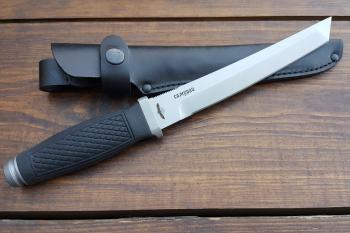 """Нож туристический """"Самурай"""" 190 мм, рукоять термоэластопласт (резина), покрытие антиблик"""