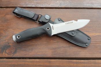 """Нож туристический """"Сапсан"""", рукоять термоэластопласт (резина), покрытие антиблик"""