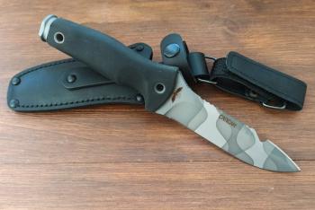 "Нож туристический ""Сапсан"", рукоять термоэластопласт (резина), покрытие камуфляж"