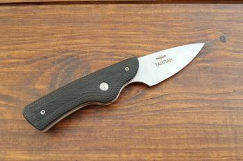 """Нож складной """"Тайпан"""", пластиковые накладки, покрытие антиблик, с упрочнением режущей кромки"""