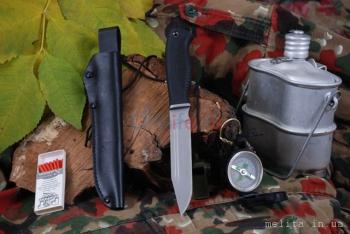 "Нож туристический ""НР-09"", рукоять термоэластопласт (резина), покрытие антиблик"