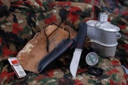 """Нож туристический """"Куян"""", рукоять термоэластопласт (резина), покрытие антиблик"""