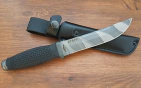 Нож  Егерь, рукоять резина, покрытие камуфляж