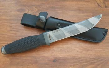 """Нож туристический """"Егерь"""", рукоять термоэластопласт (резина), покрытие камуфляж"""